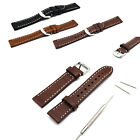 20mm Genuine Leather Retro Replacement Watchband Strap   Tool for Smart Watch