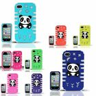 For iPhone 4/4s GLOW PC/SC Panda Bear 3D Design Cover Case