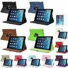 Leather 360° Degree Rotating Case Cover Stand For iPad Air 1 2+Screen Protector