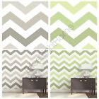 ZIG ZAG PEEL & STICK BEDROOM WALLPAPERS WALL DECOR - TAUPE & GREEN - FREE P+P