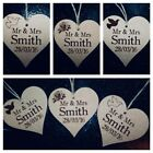 PERSONALISED WEDDING TAGS , WEDDING FAVOURS  wooden heart with string