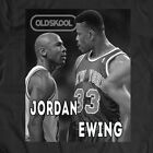 LEGENDS Michael Air Jordan VS Patrick Ewing *OLDSKOOL* RARE CUSTOM SHIRT HOT image
