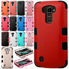 For LG K10 IMPACT TUFF HYBRID Protector Case Skin Phone Cover +Screen Protector