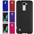 For LG K10 Rubberized HARD Protector Case Snap On Phone Cover +Screen Protector