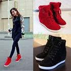 Hot New Women's High Top Lace Up Casual Sneakers Wedge Heel Ankle Boots Shoes 05
