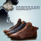 Men's Casual Sneaker Lace up Shoes Fall Winter Ankle Boots Flats High Top Shoes