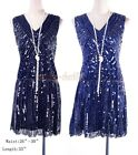 Stenay Special Occasion Lined Beads sequined Plastic waist Blue Dress WC 4033
