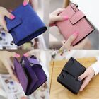 2016 Women PU leather solid shaft of square frosted Short Wallet Coin Purse AU