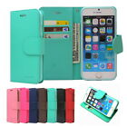 Diary Kickstand Slim Flip Leather Wallet Case Cover For iPhone Galaxy LG