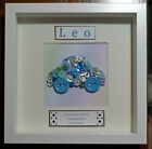 Personalised 3D Box Frame Gift: Baby Boy Birth Congratulations