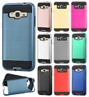 For Samsung Galaxy Express Prime Brushed Metal HYBRID Rubber Case Phone Cover