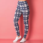 Womens Jacqueline De Yong Angus Check Print Leggings In Blue From Get The Label
