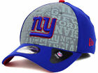 New York Giants NFL Player Draft New Era 39Thirty Reflective Blue Fitted Hat Cap