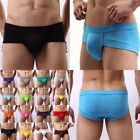 Men Brief Low Rise Underwear Fit Briefs Solid Color Modal Underpants M L XL XXL
