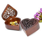 Heart Wooden Wind Up Music Box Musical Movement Castle in the Sky Home Decor