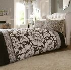 Victoriana Black Duvet Quilt Cover Set With Pillowcases, Single Double King