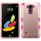 For LG G Stylo 2 IMPACT TUFF HYBRID Protector Case Skin Phone Cover Accessory