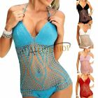 Sexy Womens Halter Crochet Monokini Bikini Set Bathing Suit Swimsuit Swimwear