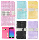 LG Logos US550 Premium Leather Bling Diamond Wallet Case Pouch Flip Phone Cover