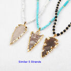 5 Strands Natural Arrowhead Jasper Necklace With 5&6mm Mix Stone TG0794