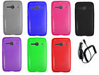 accessories for a new car - Car Charger + TPU Flexible Gel Case Phone Cover Accessory for Alcatel A464BG