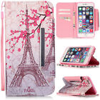 Eiffel Tower Pattern Flip Case For iPhone 6 6s Plus Samsung Galaxy S7 edge LG
