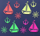 Boat & Anchor Marine, Nautical, Sailing Die Cut Shapes - Assorted Sets of 12