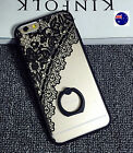 Iphone 7/7 6 Plus Clear with Black Lace Trim Ring Support Case Protector Cover