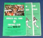 BURGESS HILL HOME PROGRAMMES 1976 to 1981