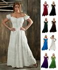 RENAISSANCE FAIR MEDIEVAL COTTON DRESS COSTUME PIRATE BOHO PEASANT WENCH CHEMISE