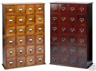 Solid Wood Library 192 DVD 456 CD Storage Cabinet w/ 24 D...