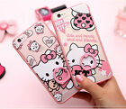 Iphone 6/6 Plus Clear Pink Hello kitty Ring holder Support Case Protector Cover
