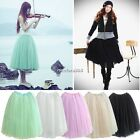 Womens Girls Soft Sweet TUTU Dance Fairy Style Comfy Tulle Dress BOHO Skirt