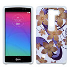 For LG Logos US550 HARD Hybrid Rubber Silicone Case Phone Cover +Screen Guard