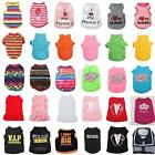 Cute Puppy Pet Dog Daddy Vest T Shirt Summer Clothes Apparel Soft Costume 6 Size