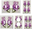 PURPLE ROSE ROSES LIGHT SWITCH COVER PLATE  K1