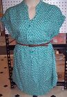 NEW Target Plus Size Belted Dress Tunic Navy Blue Green 1 2 3