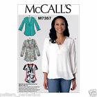McCall's 7357 Sewing Pattern to MAKE Misses' Loose-Fitting Banded Tops with Yoke