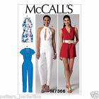McCall's 7366 Sewing Pattern to MAKE Pleated Surplice or Plunge-Neckline Romper