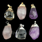 New Natural Faceted Gemstones Healing Reiki Pendant Beads 18k Silver Necklace