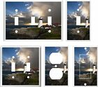 LIGHT SWITCH COVER PLATE LIGHTHOUSE STORMY SUNSET    YOU PICK  SIZE
