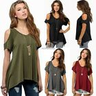 Sexy Women's Short Sleeve Blouse Tops Off Shoulder Fashion Loose Summer T-Shirt