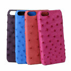 CAPIS Genuine Ostrich Skin Leather Case Cover Shell for iPhone 5 5s SE 6 6s Plus