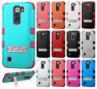 For LG Treasure LTE Rubber IMPACT TUFF Hybrid KICKSTAND Hard Case Phone Cover
