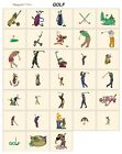 sports GOLF. CD or USB machine embroidery designs files most formats pes etc