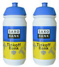 2 x TINKOFF SAXO BANK PRO CYCLING TEAM BIKE WATER BOTTLE 500ml
