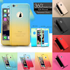 New Hybrid 360° Hard Ultra Thin Case Tempered Glass Cover Skin For Apple iPhone