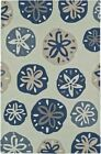 Dalyn Ivory Hoops Circles Petals Leaves Contemporary Area Rug Nautical SE11