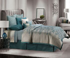 Jennifer Lopez ESTATE Comforter Set - Contemporary - Jacquard Striae GREEN *NEW*