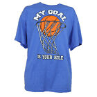 My Goal Is Your Hole Authentic Spencer Basketball Hoop Man Funny Man Graphic Tee